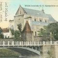 Вид на костел і міст